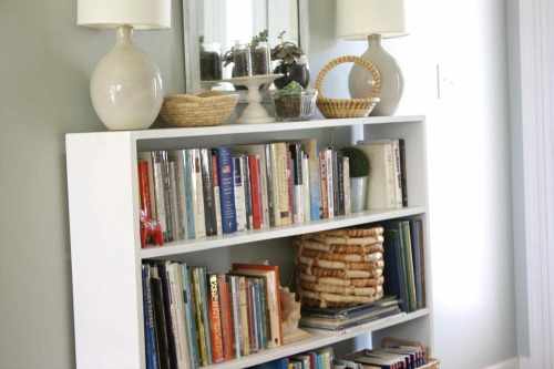 bookcase white before