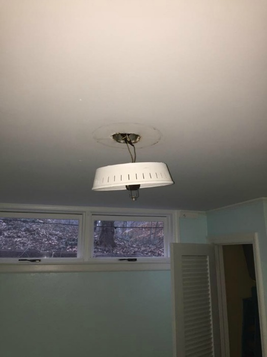 dangling light fixture