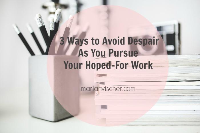3 ways avoid despair work header